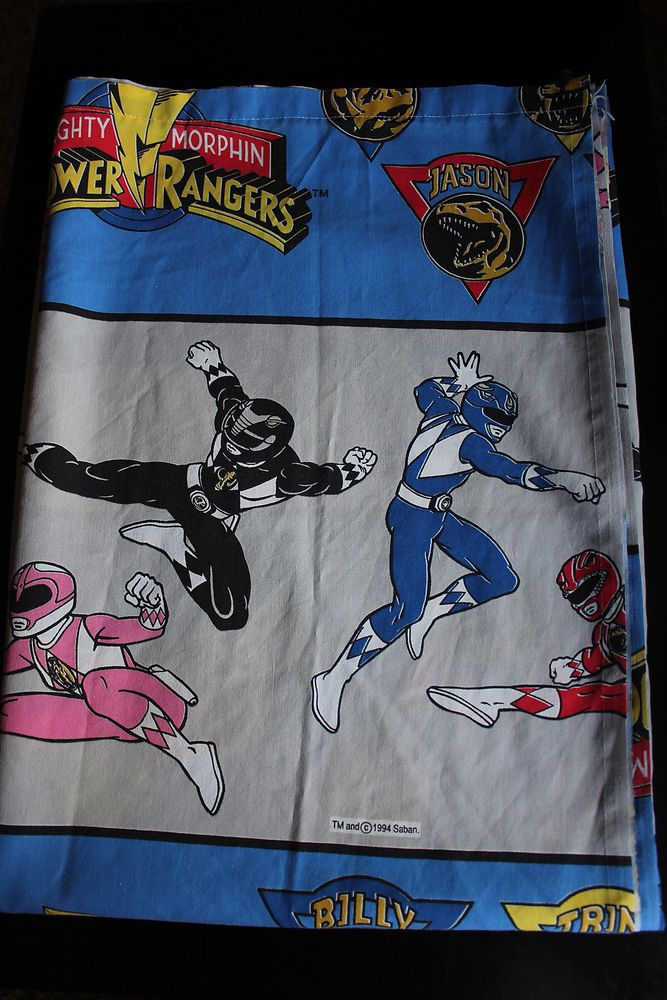 Power Rangers Bedroom: Power Rangers Mighty Morphin Twin Flat Sheet Vintage 1994