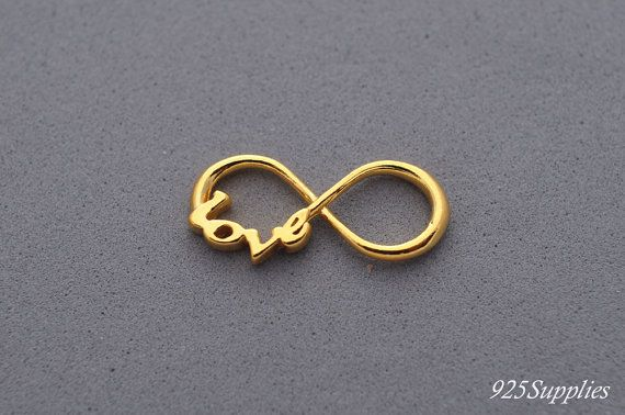 925 Sterling Silver Infinity Charm plated 24 carat gold, Silver Infinity Pendant, Bracelet Infinity Charm, 925 Silver Charm, Infinity Charm,