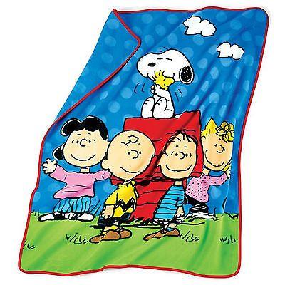 Peanuts Gang Throw Blanket*snoopy*linus*woodstock*plush Fleece ...