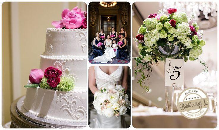 Magenta + Purple + Green + White palette for an elegant, romantic wedding, Ph Chantel Giongco http://www.brideinitaly.com/2013/10/chantel-giongco-italians.html #italianstyle #theme