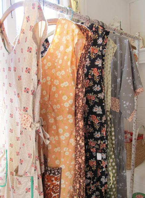 closet rack wrapped with fabric (via dottie angel)