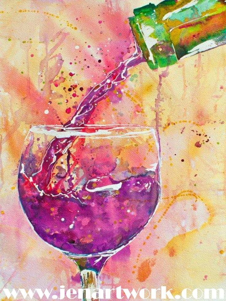 Jen Callahan Artwork: Wine Theme