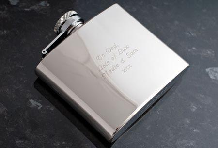 Engraved Stainless Steel Hip Flask - Groomsmens present