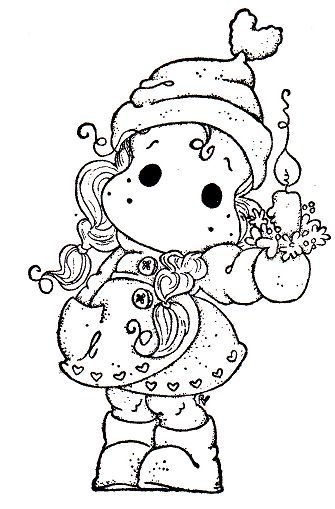 coloring page christmas tildas bing images