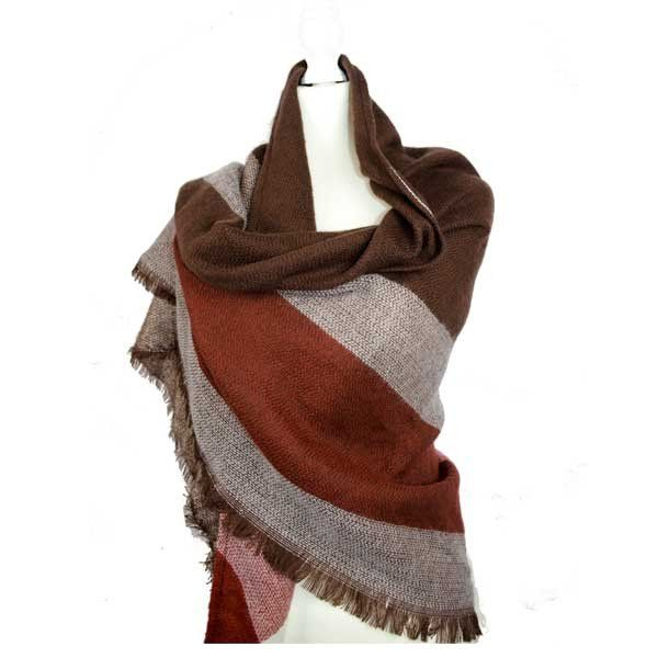 The Blair Wrap Stay stylish and warm this winter. This fantastic large scarf/pashmina is ideal to wrap yourself up in and look effortlessly on trend this season.      Triangular shape scarf (190cm x 140cm x 140cm)     Super soft