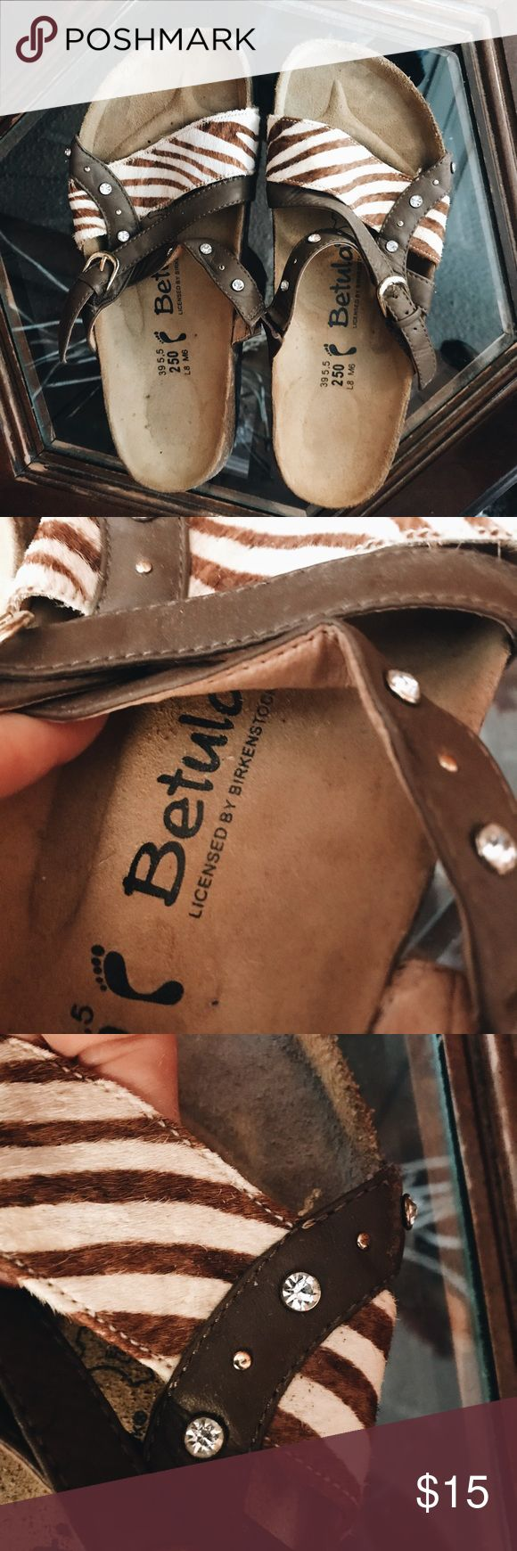 Betula sandals This brand is by Birkenstock. You can see it says that on that bottom of the shoe. Super excellent condition Birkenstock Shoes Sandals