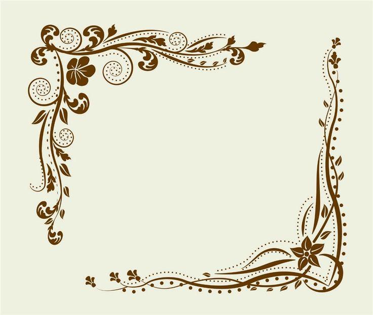 Смешных, орнамент рамки для открытки
