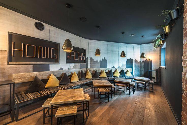 Honigdachs Bremen Restaurant, Bar Café- Burger, Salate, Snacks, Hausgemachte Eistees und Limos, Drinks Honigdachs Bremen - Burger · Bar · Café