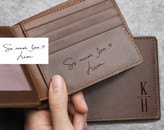 Wallet mens Silver Birthday Gift Husband Boyfriend Engraved grandad love note uk
