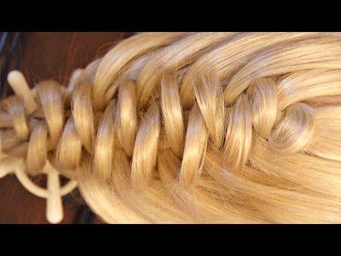 Коса из петелек - 2 ажурная - YouTube