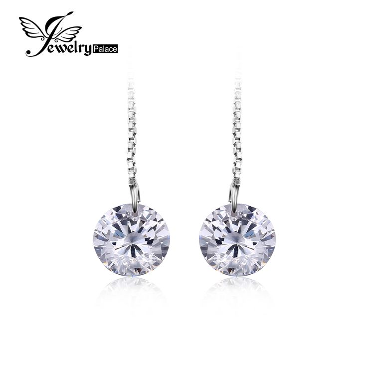 5.2CT  Round Cut Earrings Real 925 Sterling Silver Women Engagement Wedding Fine Jewelry Fashion Long Earrings //Price: $9.99 & FREE Shipping //     #fashionjewelry