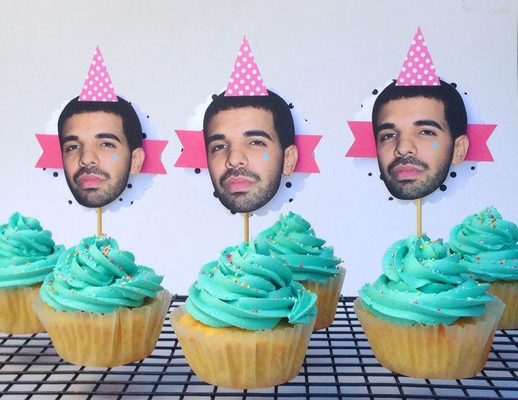 Cupcakes with Drake Cupcake Toppers. Cupcakes by Sweet Tooth CPT https://www.facebook.com/sweettoothcpt Cupcake Toppers by Happy Time CPT https://www.facebook.com/happytimecpt Photo by Willem Lourens