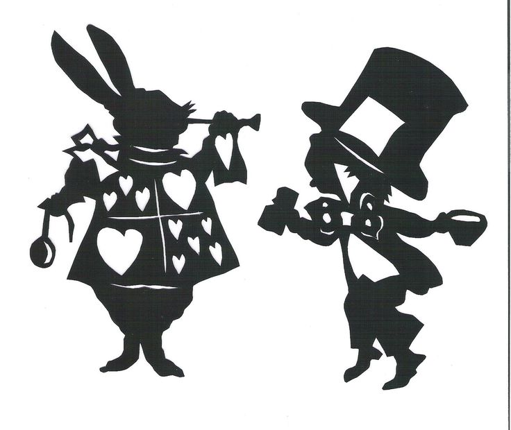 mad hatter silhouette - Google Search