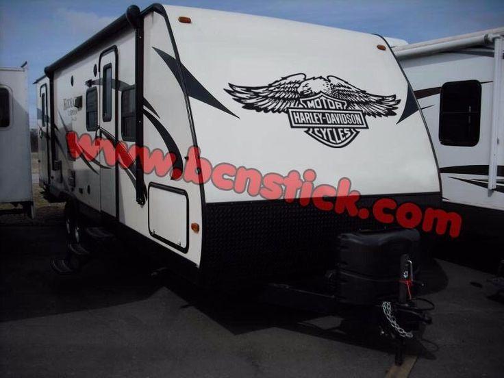 Vinilos pegatinas Harley Davidson furgoneta Caravana - Envio 72h