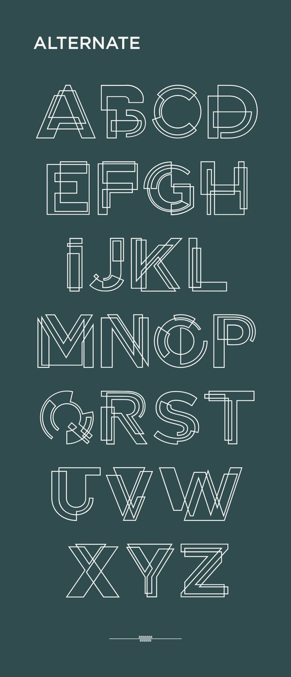 Tesla Font + Free Font by Lexi Griffith, via Behance