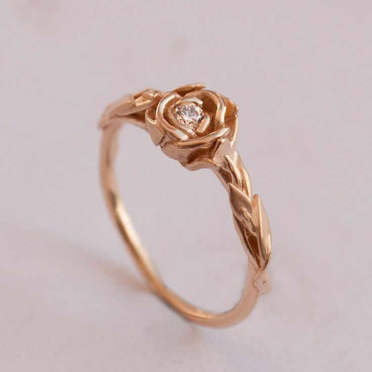 minimalist engagement ring rose gold - Google Search
