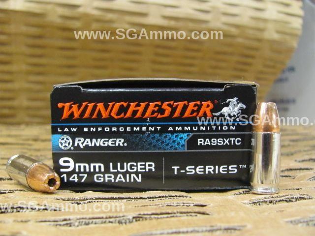 500 Round Case - 9mm Luger Winchester Ranger SXT T-Series