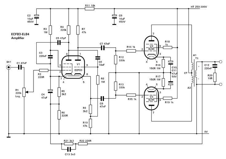 vacuum tube audio compressor schematic