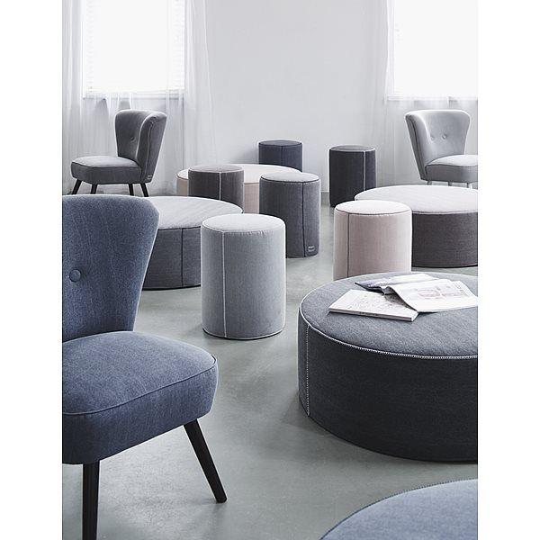 vtwonen Buddy Poef 90 cm - Blue Take a seat @ #vtwonencollectie