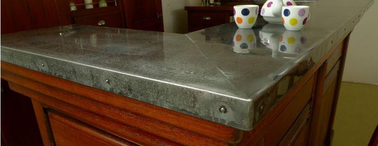 comptoir en zinc cloué