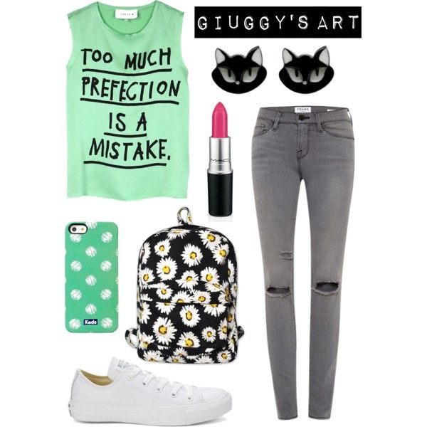 Perfect imperfection by giuggysart on Polyvore featuring polyvore, moda, style, 5 Preview, Converse, Motel and Keds