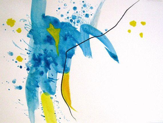 "9.5""x12.5"" (24cm x 32m) - Original abstract painting - by Sabina Drotar"