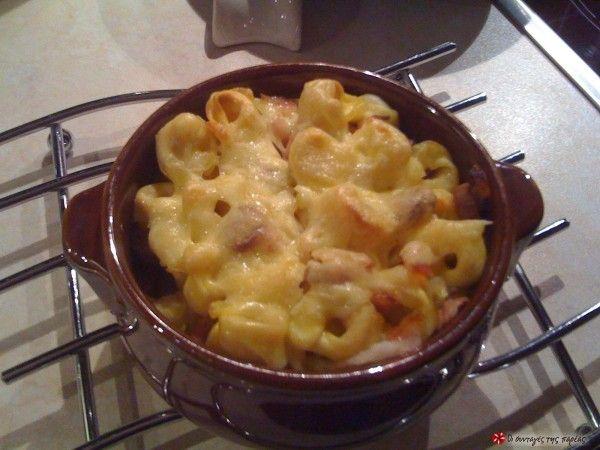 Τορτελίνια στο φούρνο με... τα πάντα #sintagespareas