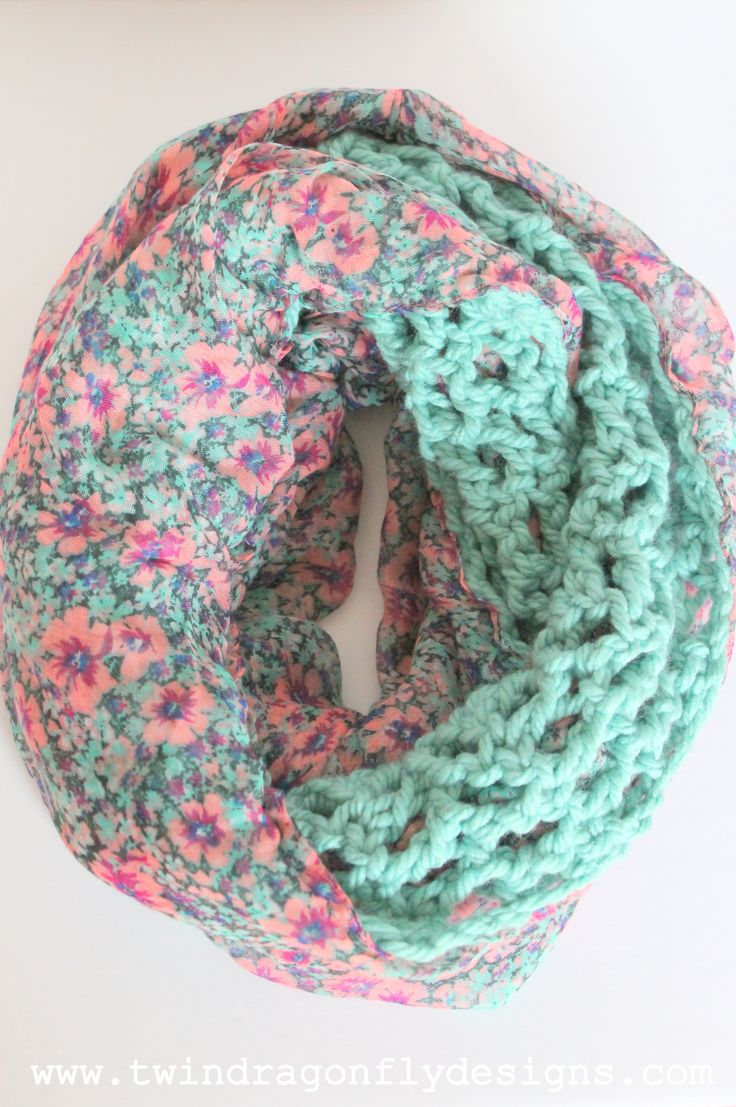 Crochet Chiffon Infinity Scarves - these are absolutely gorgeous! I need one of each.