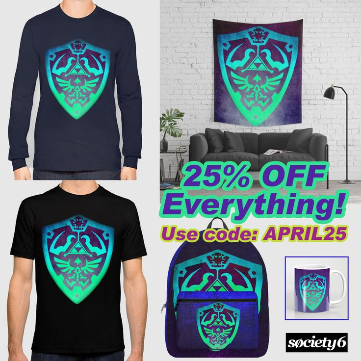 25% OFF on Everything in my @society6 store!! Just use code: APRIL25. Buy Cool #gaming gifts with discount! #zelda #legendofzelda #society6 #monday #art #gaming #gamer #zeldashield #gamersroom #gamergirl #homedecor #gamingtapestry #walltapestry #tees #shirts #tshirts #gamertshir t#gamingtshirts #geek #nerd #retrogamer #coffe #mug #backpack #gym #travel #monday #sale #sales #discount