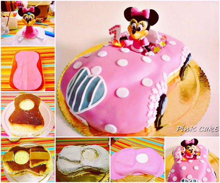 DIY Cute Minnie Mouse Car Cake