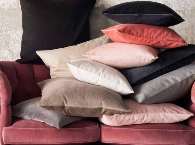 Coussin Velours H&M Home