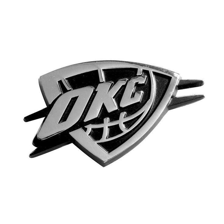 Oklahoma City Thunder NBA Chrome Car Emblem (2.3in x 3.7in)