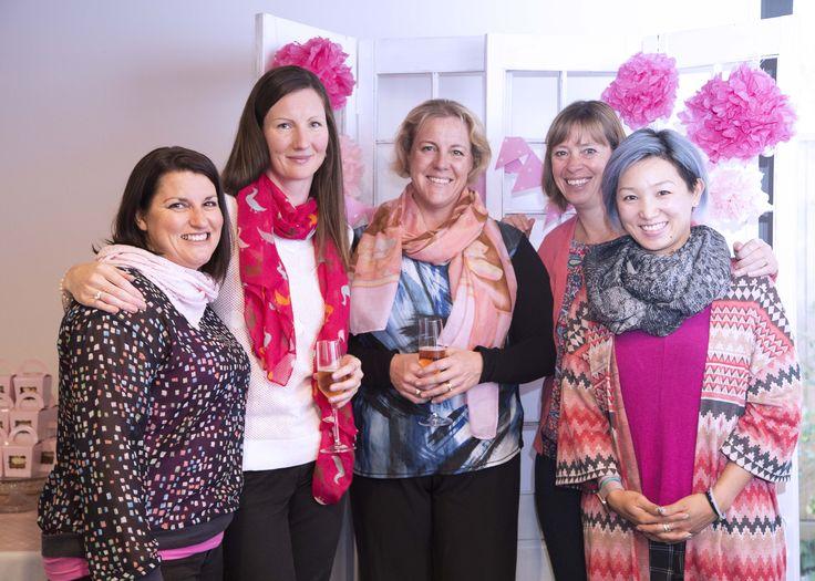 Ladies in pink, Pink Ribbon Breakfast at Peak Functions, May 2017