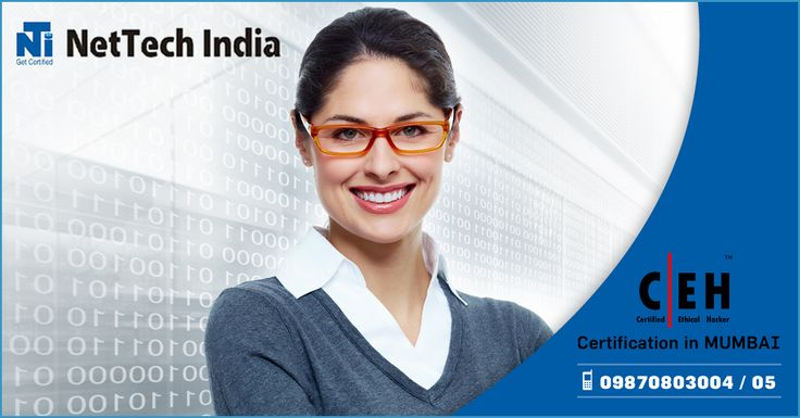 NetTech India provide training for CCNA, CCNP, CCIE, MCSA, RHCE, Ethical Hacking, Juniper Router and Vmware in Thane with certified professionals having very good experience and skills. www.nettechindia.com/networking/certifications/ethical-hacking.php
