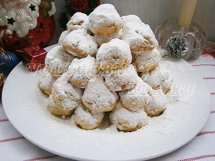 Печенье курабьедес рождественское греческое печенье