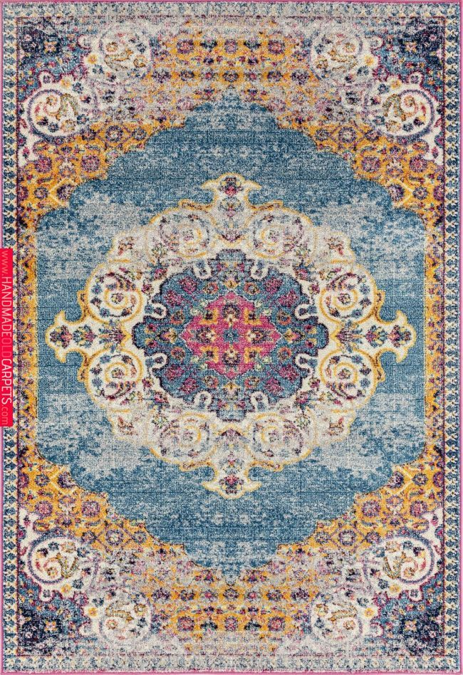 Amer Rugs Manhattan Man 3 Blue Orange
