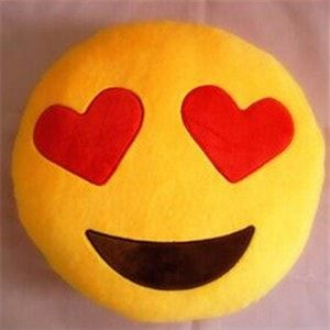 Emoji Heart Eyes Pillow