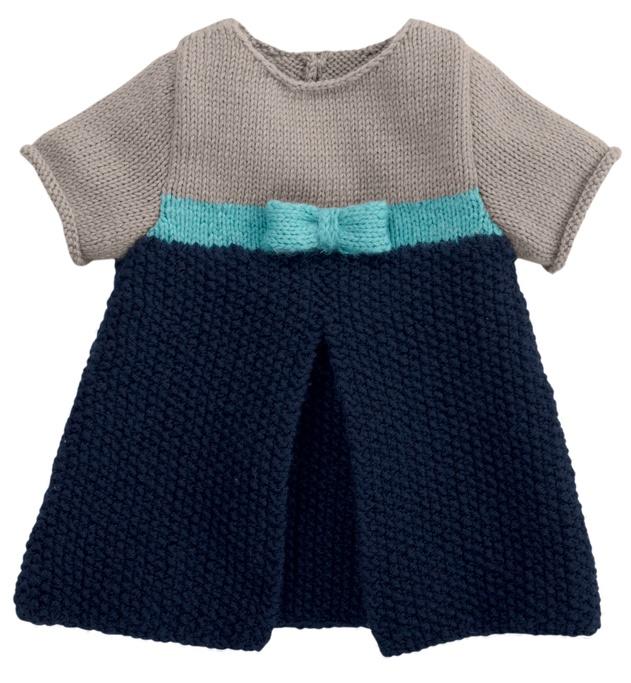 Modèle robé bébé manches courtes - Modèles Layette - Phildar