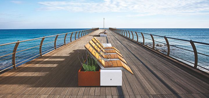 Urban furniture Metalco: take a seat on the landscape