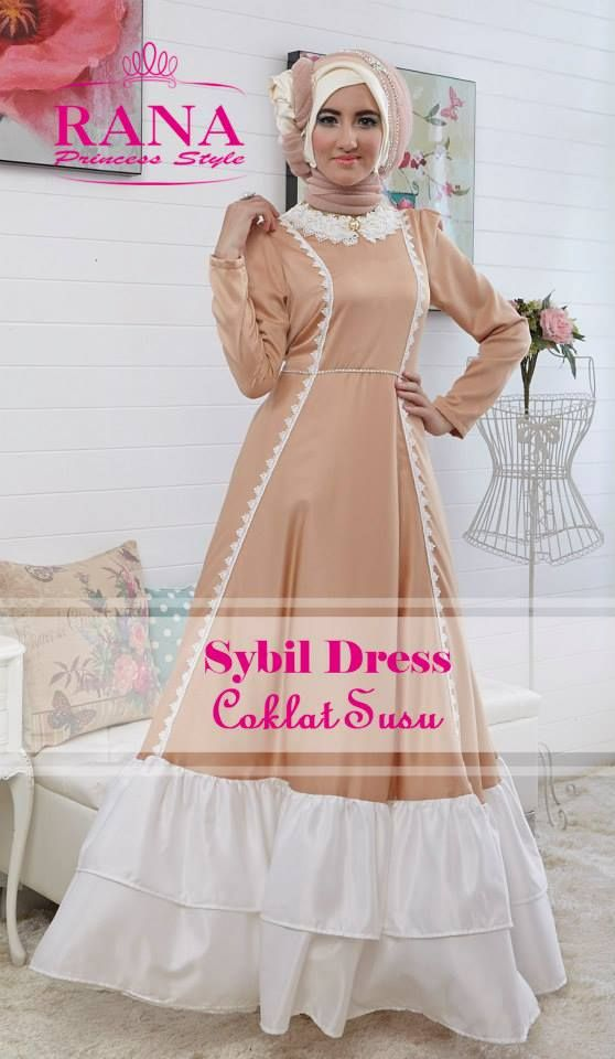 Sybil Dress Coklat Susu2
