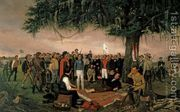 Surrender At Santa Anna  by William Henry Huddle