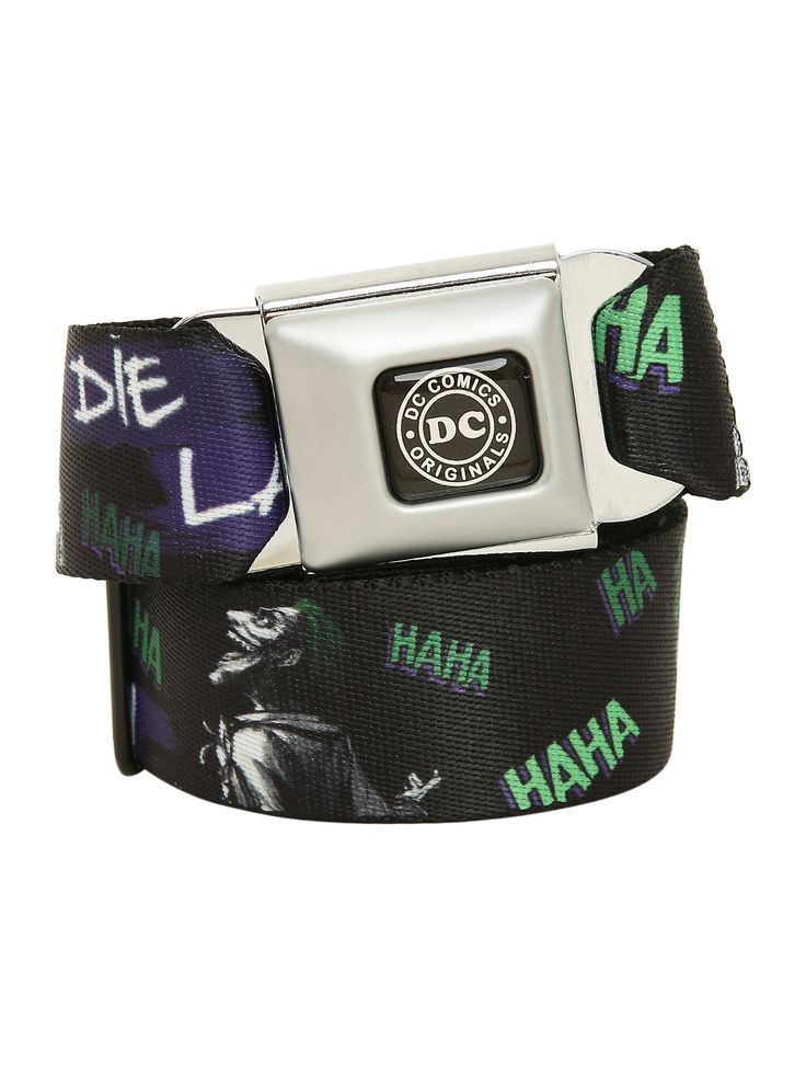 The Joker belt with an authentic seat belt closure.<ul><li> Adjustable </li><li>Made in USA</li></ul>