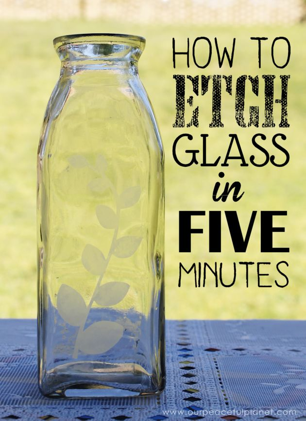 We'll show you how to etch glass and create beautiful designs on almost any type…