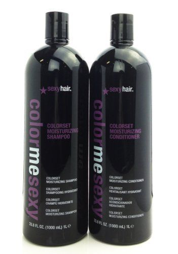 Sexy Hair Color Me Colorset Moisturizing Shampoo and Conditioner Duo 33.8oz by Sexy Hair. $24.99. Leaves hair soft and manageable while adding body and fullness.. Sulfate-free ColorSet is guaranteed to help hair color last longer and remain brilliant and vibrant.. Formulated with UV protectants and conditioning agents protecting hair and maximizing color retention. This moisturizing shampoo is for normal, dry, and chemically processed hair. Provides moisture without weight.. Colo...