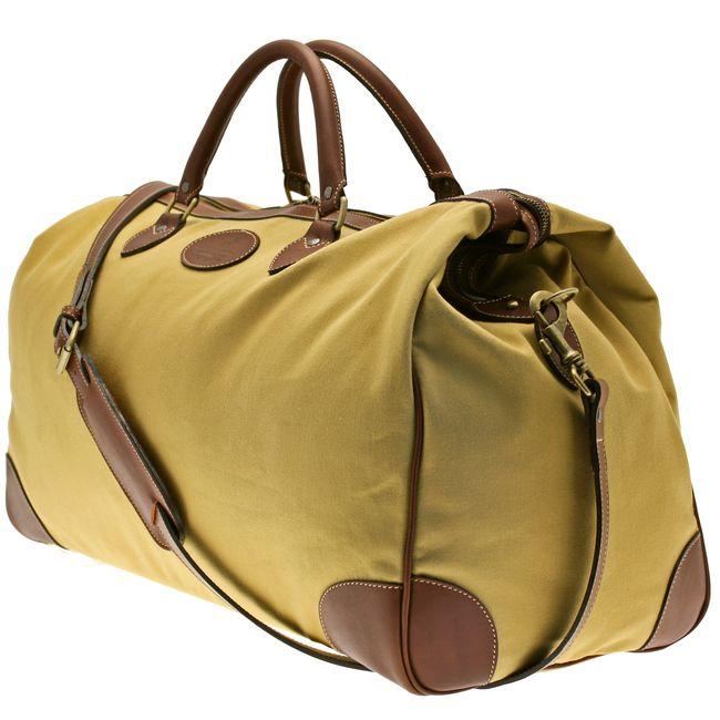 Ettinger London Luxury Leather Pursuits Sand & Havana Cotswold Weekend Bag