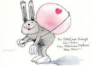 Janosch Postkarte - Ostern: Tierisch Gute Osterwüsche