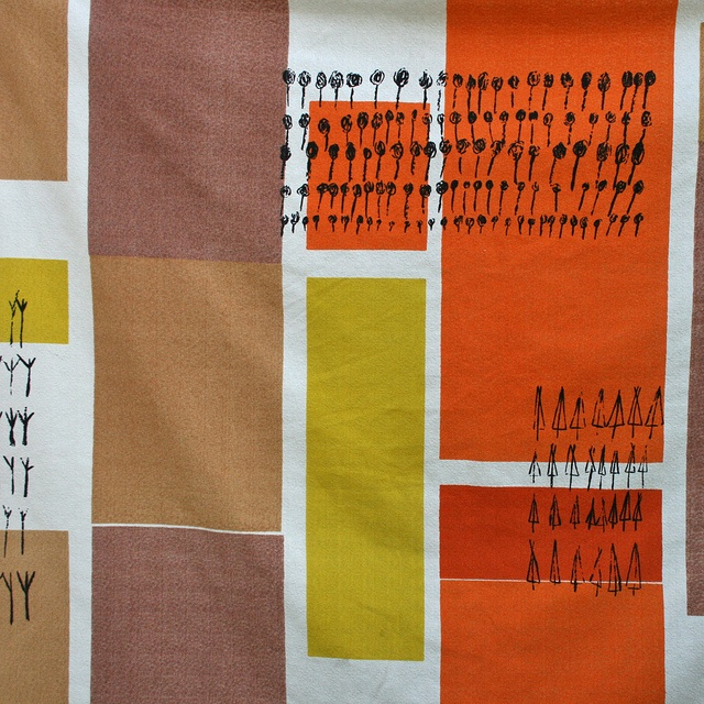 Lucienne Day for Heals: 'Plantation' textile design.  Photo by Something Fine, via Flickr.