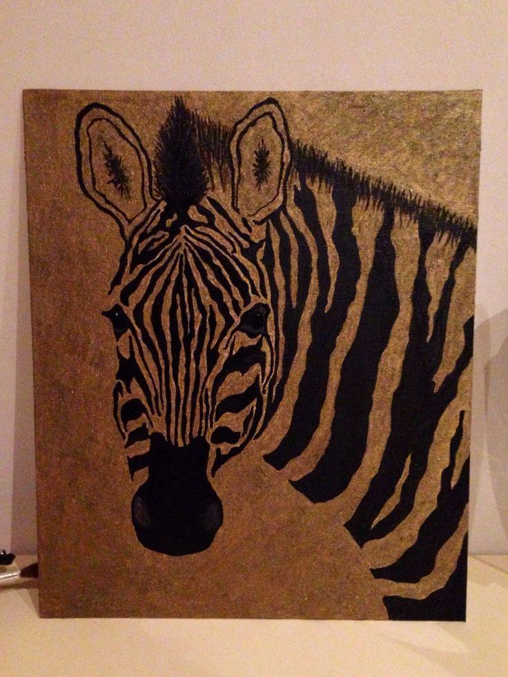 #Zebra , art , artwork , paint , acrilic , canvas , drawing , Ioana Purice