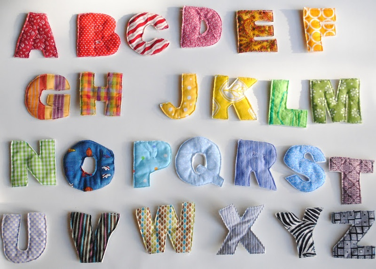 fabric alphabet magnets