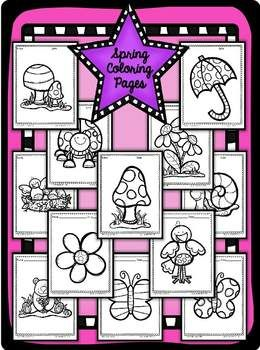 I Can Color {Spring} Coloring Pages